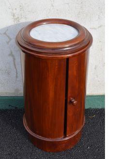 Mahogany marble top pot cupboard