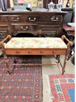 Victorian mahogany duet stool