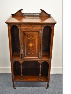 Edwardian rosewood music cabinet