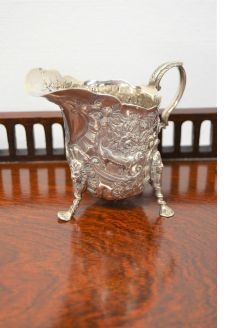 Victorian irish silver cream jug