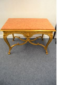 Gilt marble topped table
