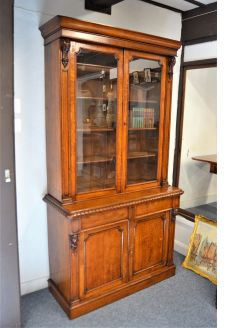 Victorian two door bookcase