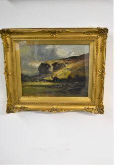 19th century gilt framed oil painting