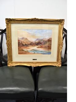 Prudence turner gilt framed watercolour