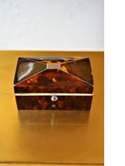 Georgian tortoise shell box
