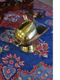 Victorian brass coal bucket