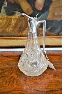 Silver mounted claret jug