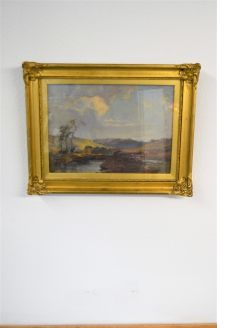 19th century gilt framed oil painting
