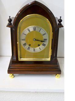 Edwardian mahogany cased mantle clock