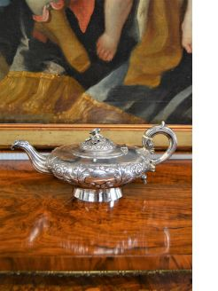 19th century irish silver tea pot