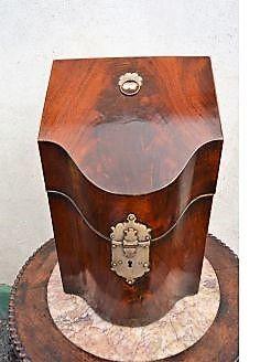 Georgian mahogany cultlery box