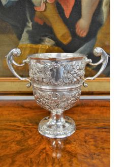 George II irish silver loving cup