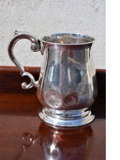 18th century silver tankard