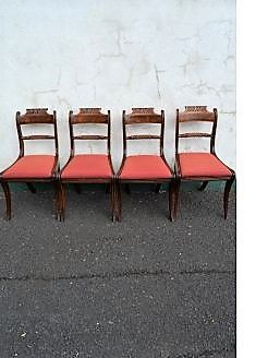 Set of four georgian mahogany chairs