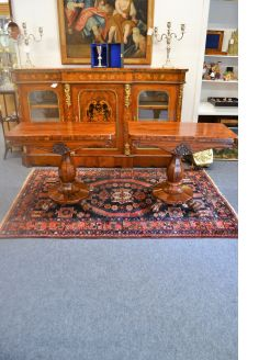 Pair of william IV rosewood card tables
