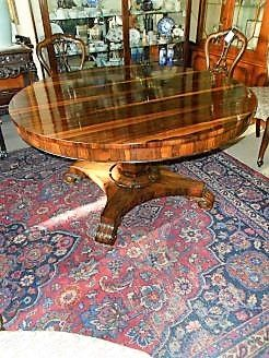 19th century circular rosewood table
