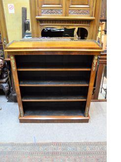 Victorian walnut floor bookcase