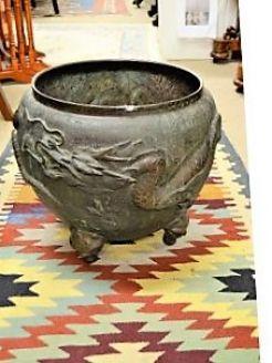 19th century chinese bronze planter