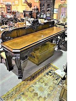19th century mahogany serving table