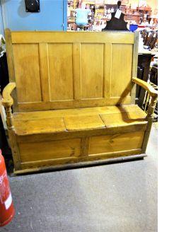 Victorian pine bench