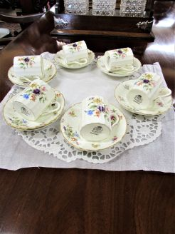 Set of six royal worcester coffee cans & saucers