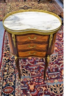 Marble top chest / pedestal