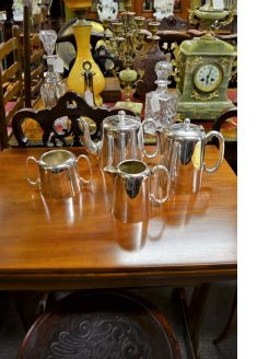 Four piece plated hotelware tea / coffee set