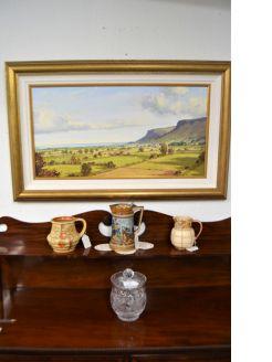 Gilt framed oil on canvas by sam Mc Laron