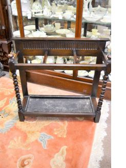 Victorian oak stick stand