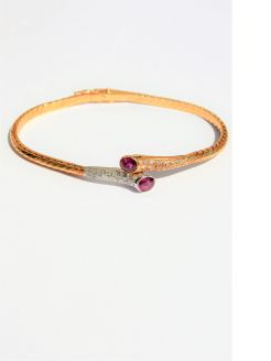 18ct gold ,ruby & diamond bracelet