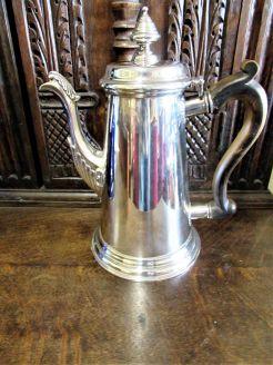 Irish silver coffee pot