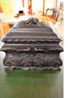 Carved oak box