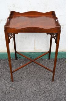 Edwardian inlaid tray / table