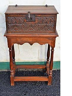 18th century oak bible box