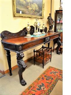 William IV carved mahogany serving table