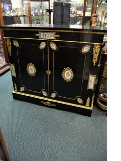 Victorian ebony side cabinet