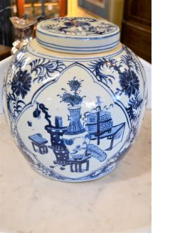 Large chinese jar and cover