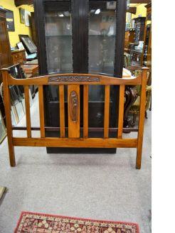 Art nouveau mahogany bed