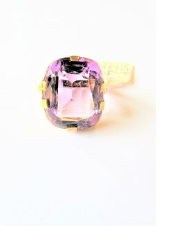 Large 9ct gold amethyst ring