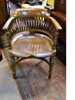 Victorian oak desk chair