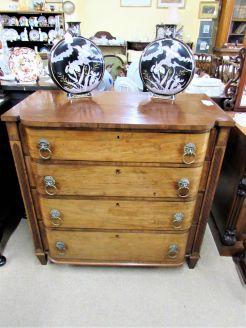 19th century mahogany chest drawers