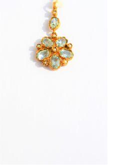 9ct gold  & topaz pendant