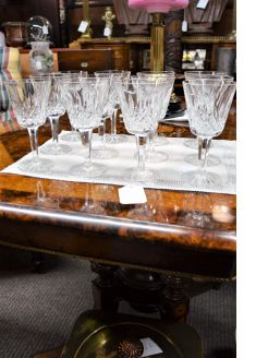 Set twelve waterford glasses