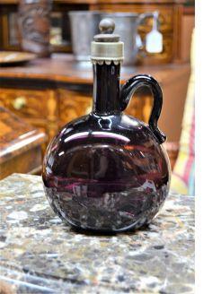 Victorian amethyst glass decanter