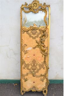 Victorian gilt folding screen