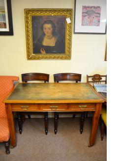 Pitch pine desk