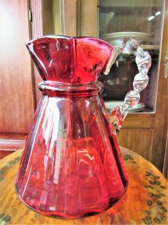 Victorian ruby glass