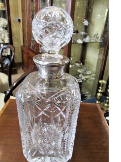 Silver mounted decanter