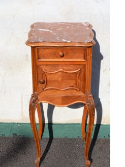 French marble top pedestal