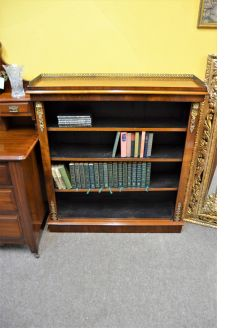 Victorian walnut floor bookcase